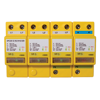 Type 1+2+3 Combined Lightning and Surge Arresters for TNC-S and TN-S Installations