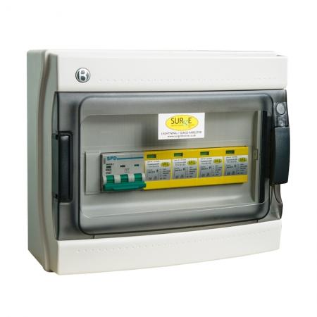 10811/LED/ENCM - Type 1+2+3, 100kA (Level 1), 3 phase, all