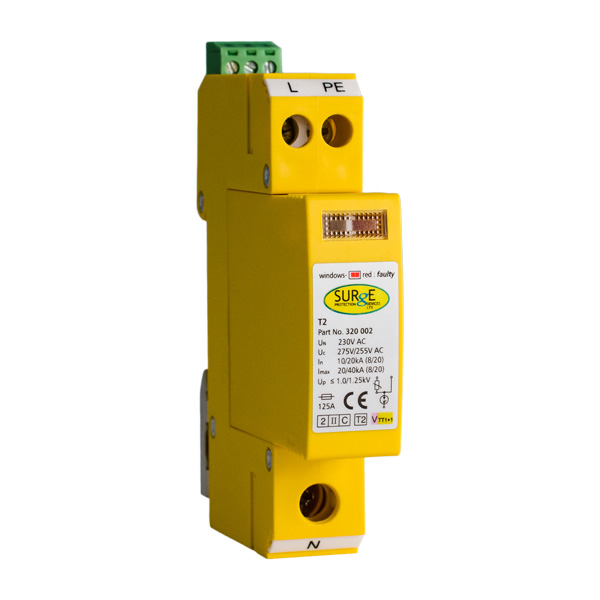 320002 Type 2 3 Single Module 2 Pole With Replaceable Modules Window Indication And Remote Contacts Surge Devices